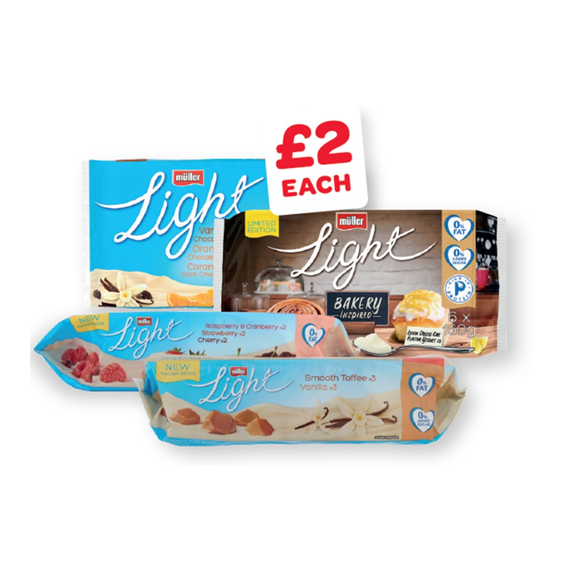 Muller Light Red Fruits / Chocolate / Toffee & Vanilla / Seasonal Limited Edition 160g