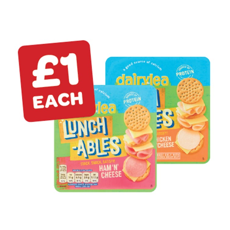 Dairylea Lunchables Ham & Cheese / Chicken & Cheese