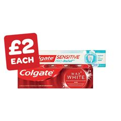 Colgate Max White One / Pro Relief Whitening
