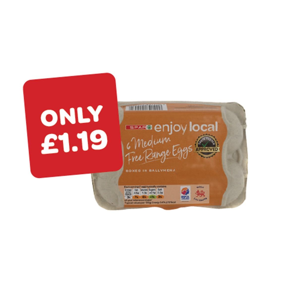 SPAR enjoy local Medium Free Range Eggs