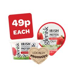 Glenisk Greek Fat Free Protein Strawberry / Raspberry Yogurt