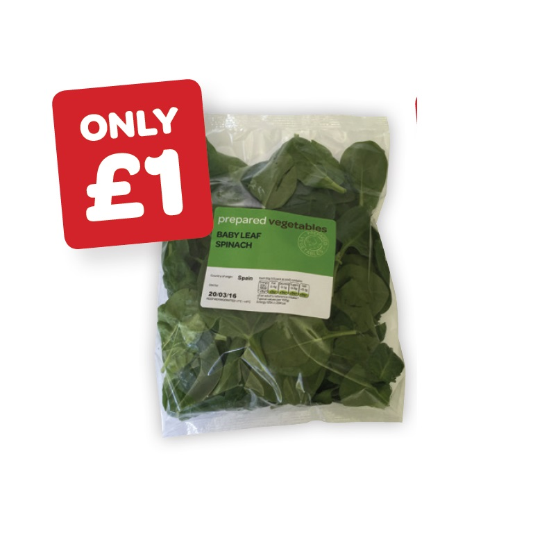 prepared Baby Leaf Spinach