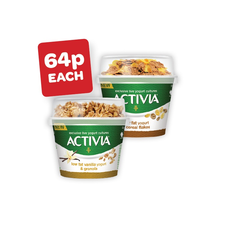 Activia Cornflake / Granola Topper with Spoon