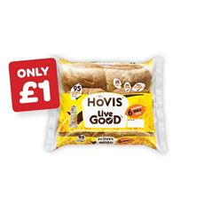 Hovis Live Good Wholemeal Rolls