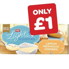 Mullerlight Goodies Lemon Meringue / Strawberry & White Chocolate 107g