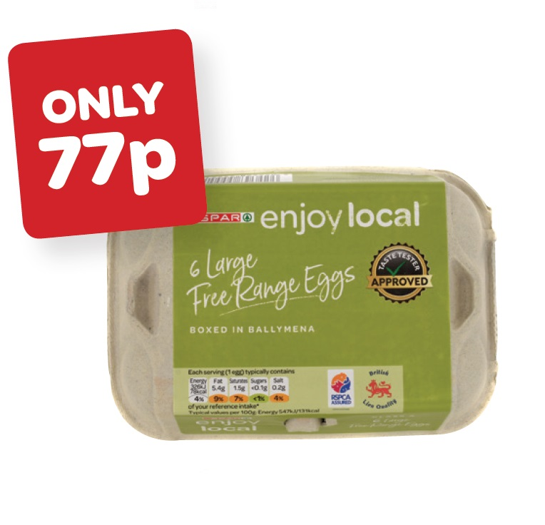 SPAR enjoy local Free Range Large Eggs