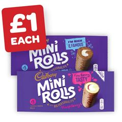 Cadbury Chocolate / Raspberry Mini Rolls