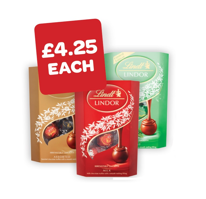 Lindor Dark / Milk / Assorted / Orange / Mint / Orange / White / Coconut Cornet