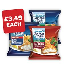 Donegal Catch Breaded Cod / Haddock / Whiting / Battered Cod