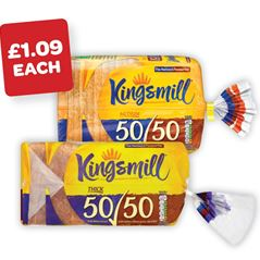 Kingsmill 50:50 Medium / Thick Sliced Bread