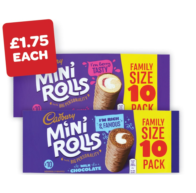 Cadburys Chocolate / Raspbery Mini Rolls