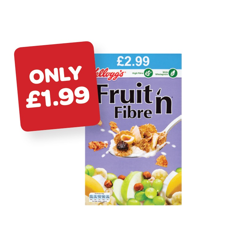 Kellogg's Fruit n Fibre Price Marked Pack