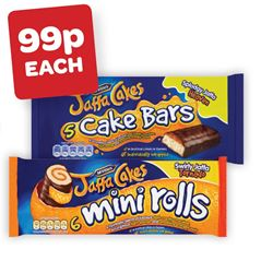 McVities Jaffa Cake Bars / Jaffa Cake Mini Rolls