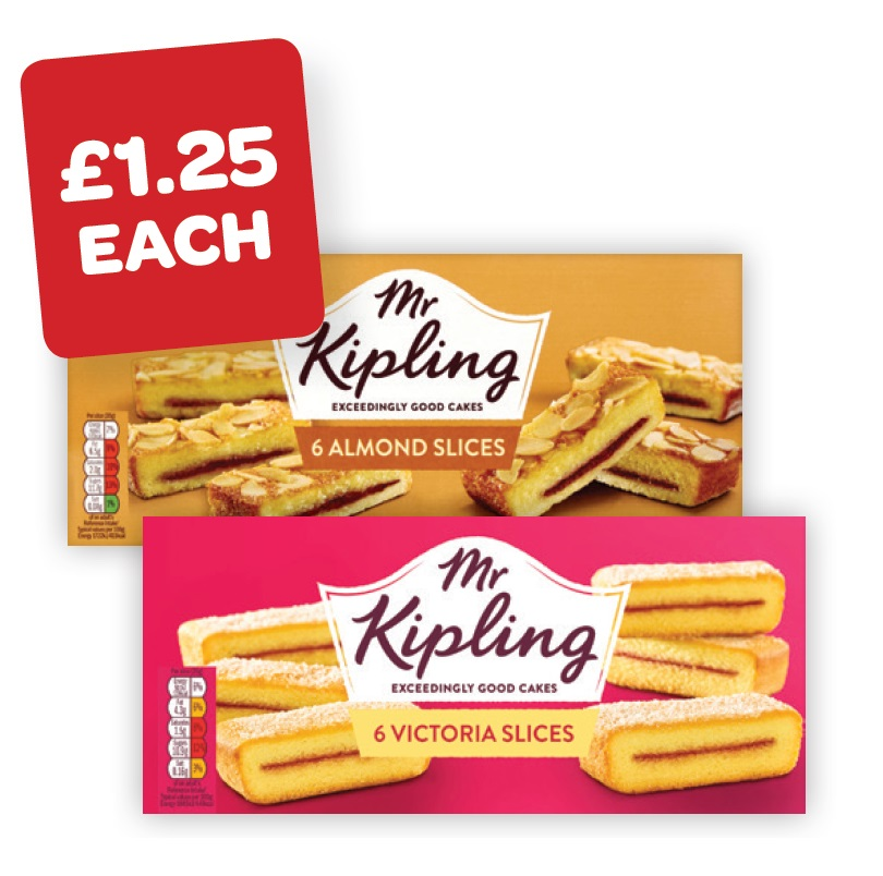 Mr Kipling Almond / Victoria Slices