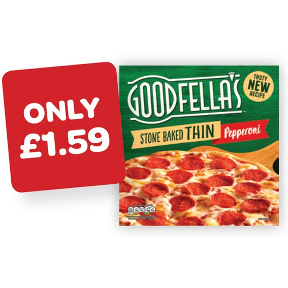 Goodfellas Thin & Crispy Roast Chicken / Pepperoni / Margherita / Ham & Pineapple