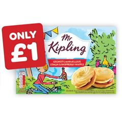 Mr Kipling George's Marvellous Lemon & Raspberry Whirls