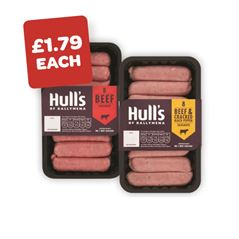 Hulls Beef / Beef & Pepper Sausages