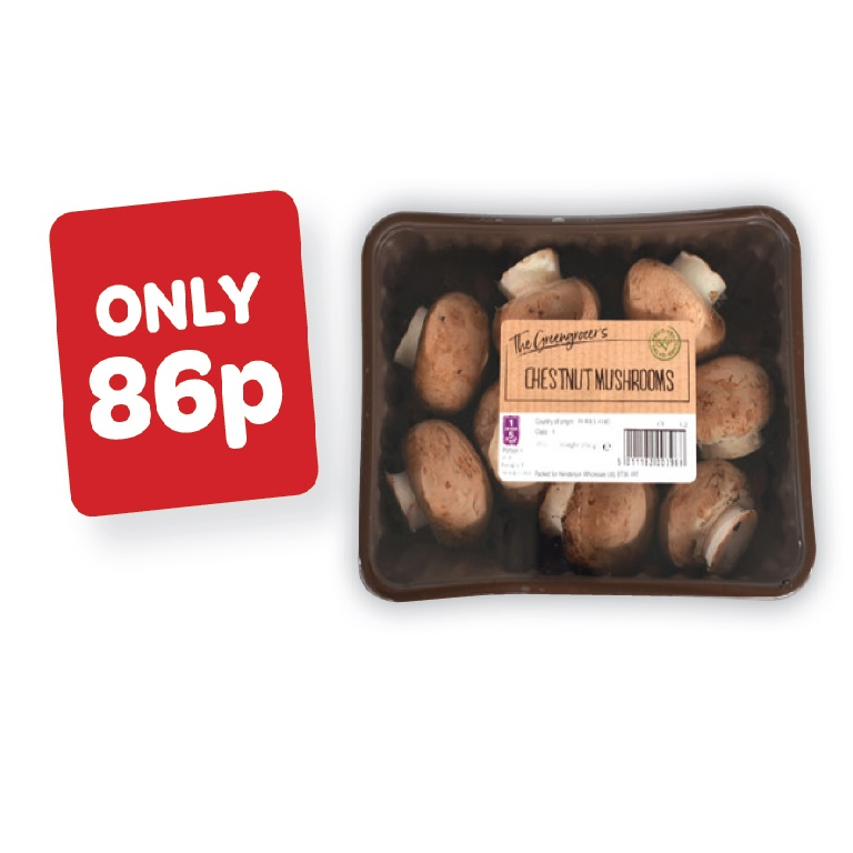 The Greengrocer's Chestnut Mushrooms