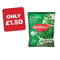 Birds Eye Garden Peas Price Marked Pack