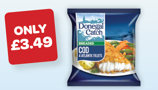 Donegal Catch Breaded Cod / Whiting / Haddock / Plaice / Battered Cod