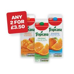 Tropicana Original / Smooth / Orange & Mango / Pineapple