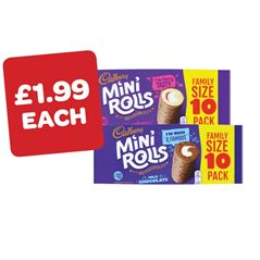 Cadbury Raspberry / Chocolate Mini Rolls