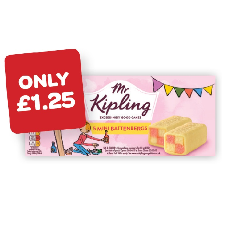 Mr Kipling Mini Battenbergs