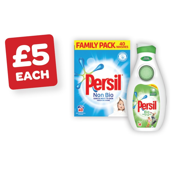 Persil Powder 40 Wash / Liquid 38 Wash