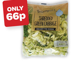 The Greengrocer's Shredded Green Cabbage