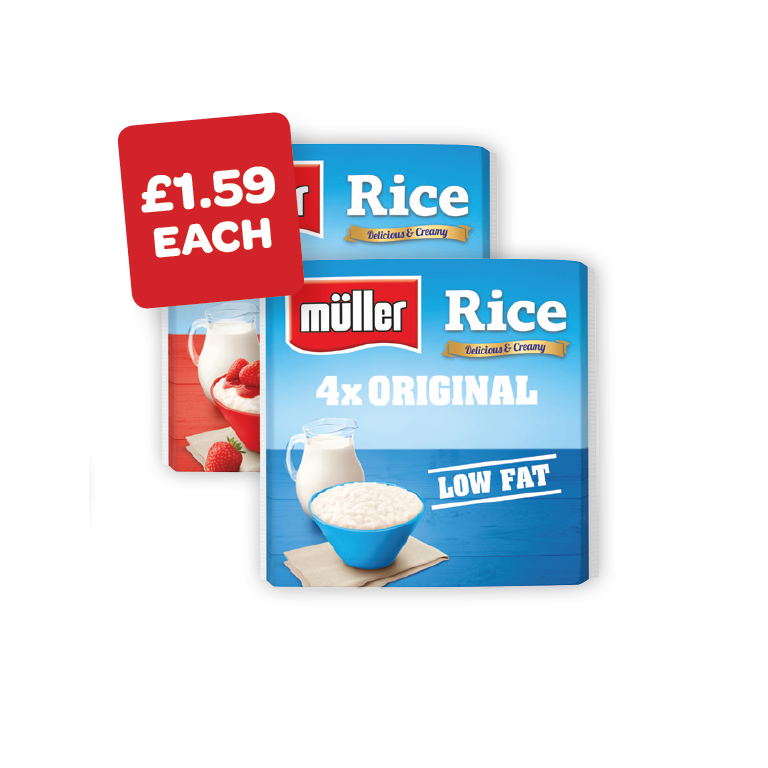 Muller Rice Strawberry / Original 180g