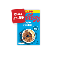Kellogg's Bran Flakes Price Marked Pack