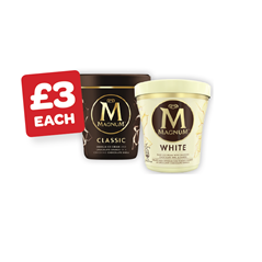 Magnum Cookie / Double Salted Caramel / White / Classic Pint
