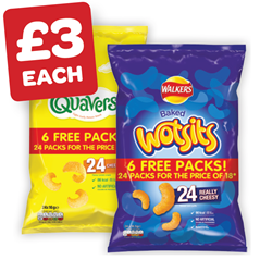 Wotsits / Quavers 18 Plus 6 Free