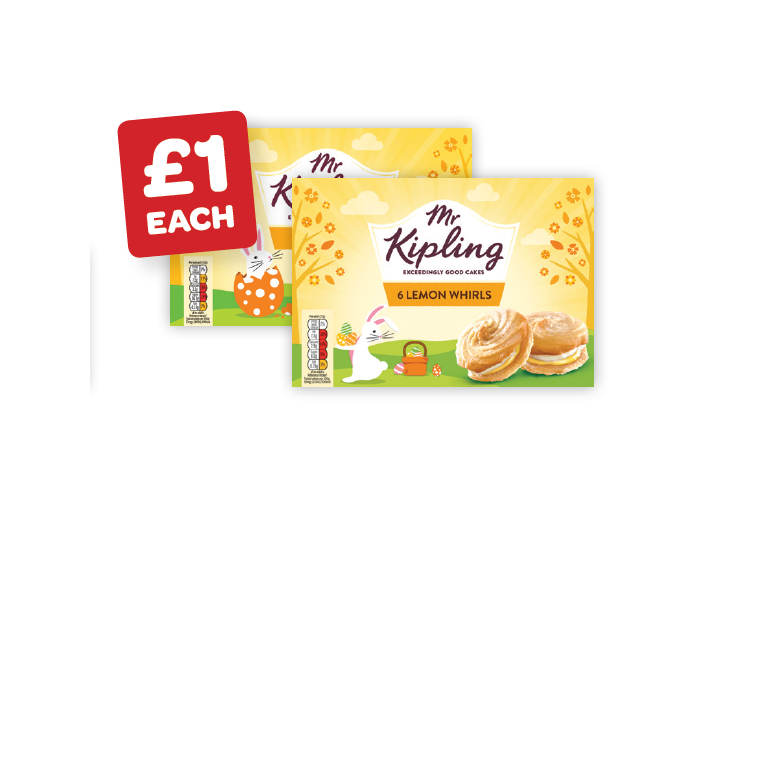 Mr Kipling Lemon Bakewells / Whirls