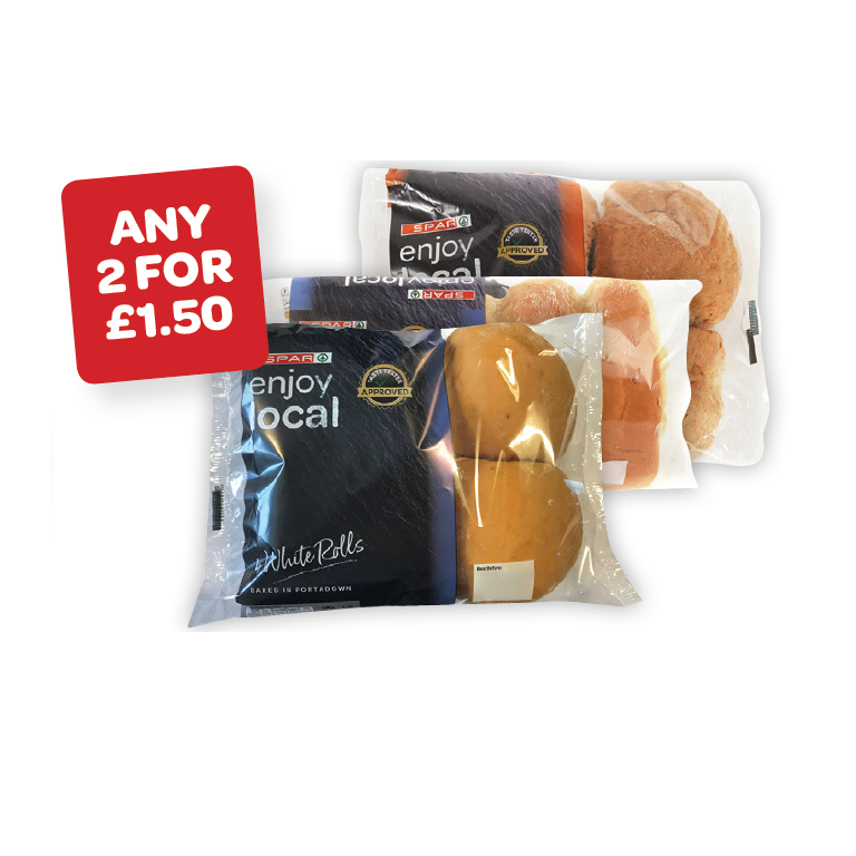 SPAR enjoy local Premium White / Brown / Finger Rolls
