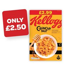 Kellogg's Crunchy Nut Cornflakes Price Marked Pack