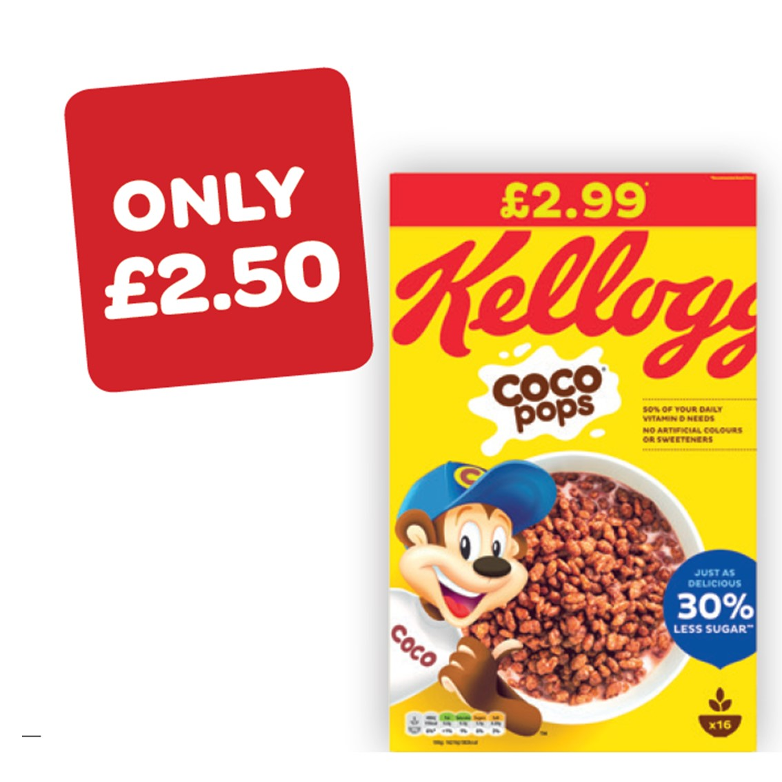 Kellogg's Coco Pops Original Price Marked Pack