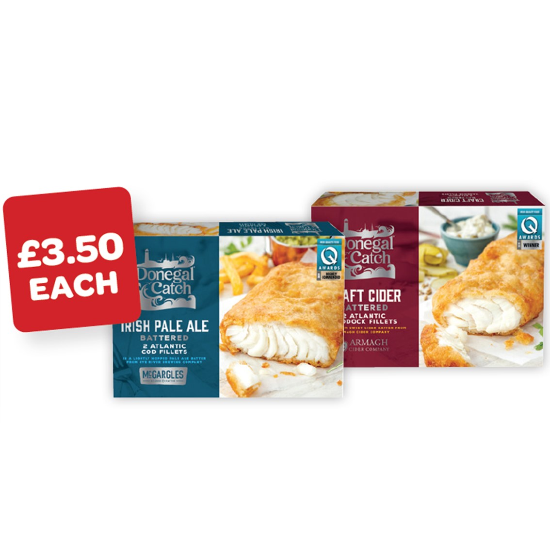 Donegal Catch Beer Battered Cod / Cider Batterd Haddock Fillets