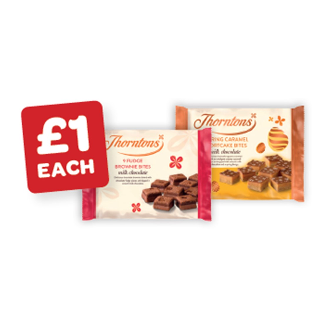 Thorntons Mini Caramel Shortcake Bites / Chocolate Fudge Brownies