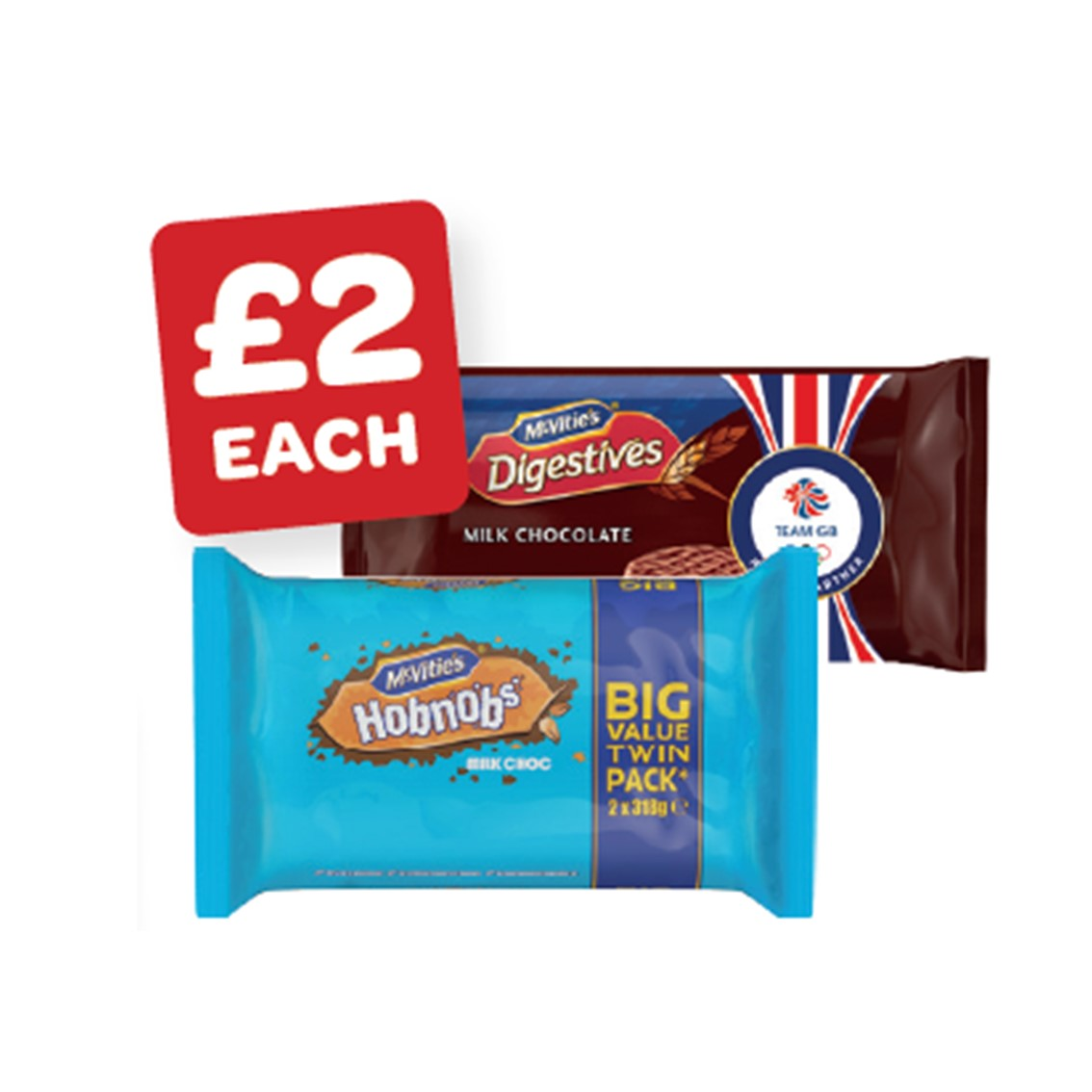 McVitie's Choc Digestives / Choc Hob Nobs Twin Pack