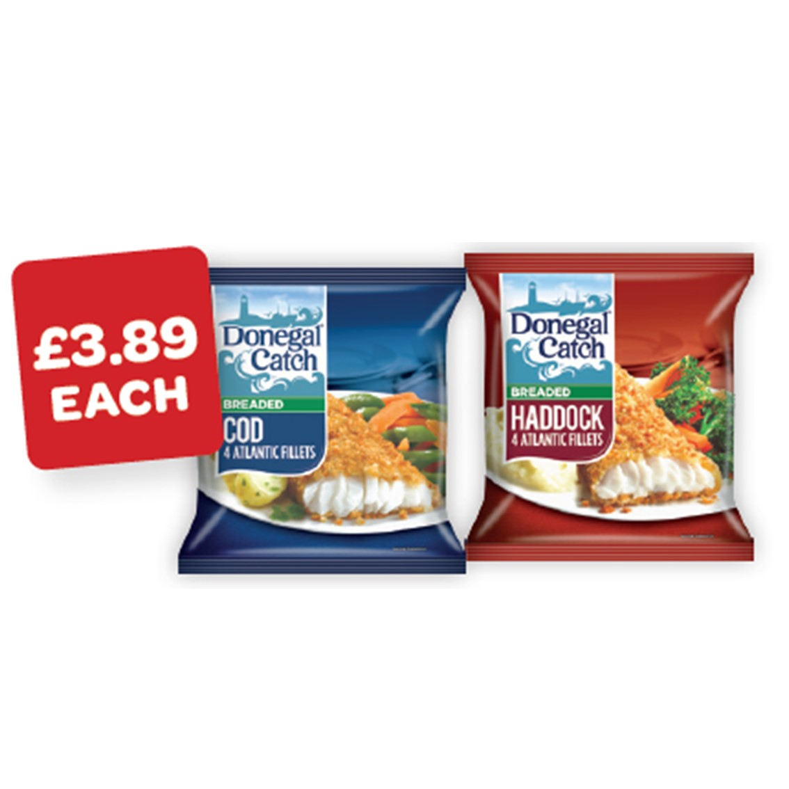 Donegal Catch Breaded Cod / Plaice / Whiting / Haddock / Battered Cod Fillets